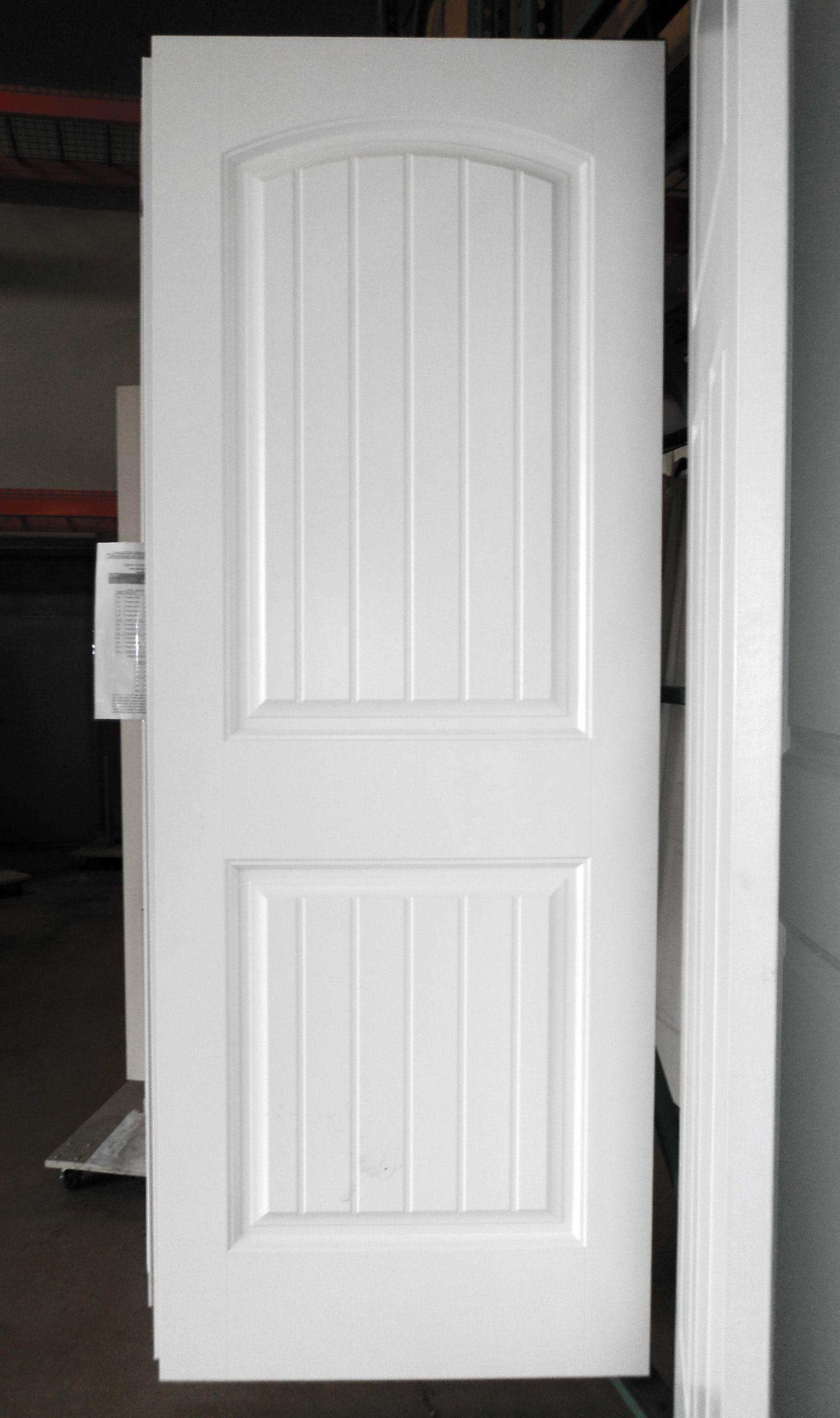 2 Panel Painted White Cheyenne Smooth Masonite Hollow Core Interior Door