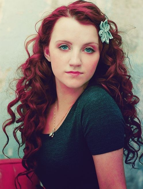 Evanna Lynch. curly red hair instead of just wavy? | My Story with ...