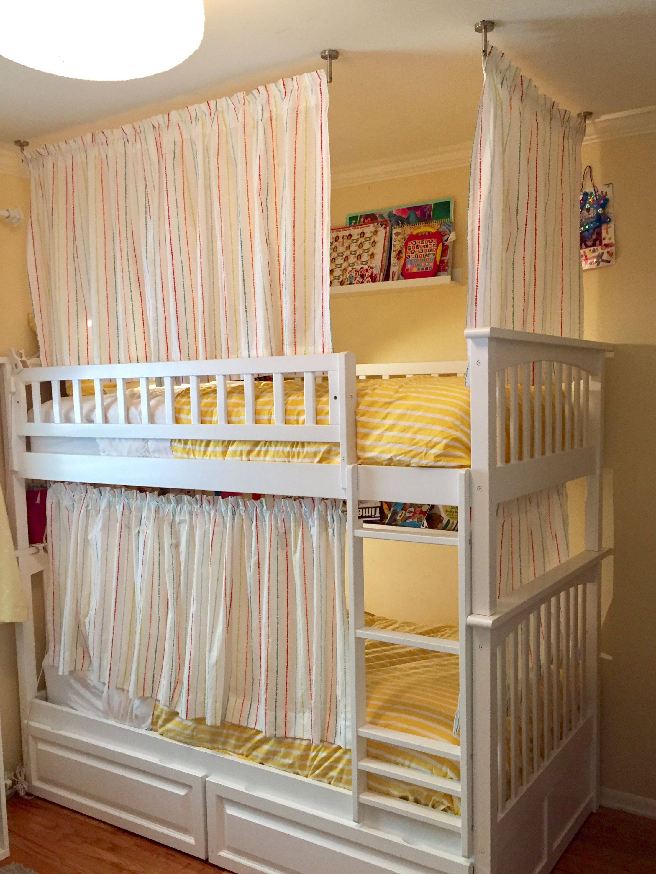 Bunk Bed Curtains Using Ikea Products Dignitet Wire Curtain Rod