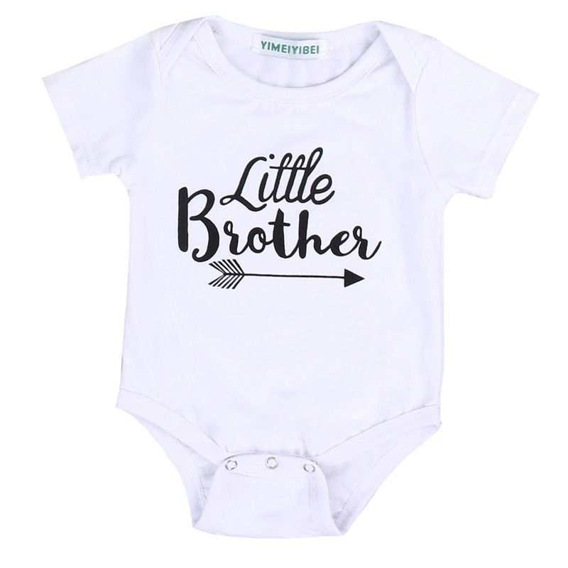 346cb92379 Newest Toddler Kids Big Sisters Little Brothers Clothes Cotton Short Sleeve Romper  T-shirt Tops