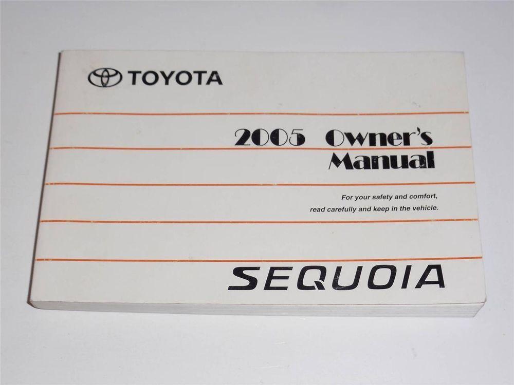 2005 toyota sequoia service manual