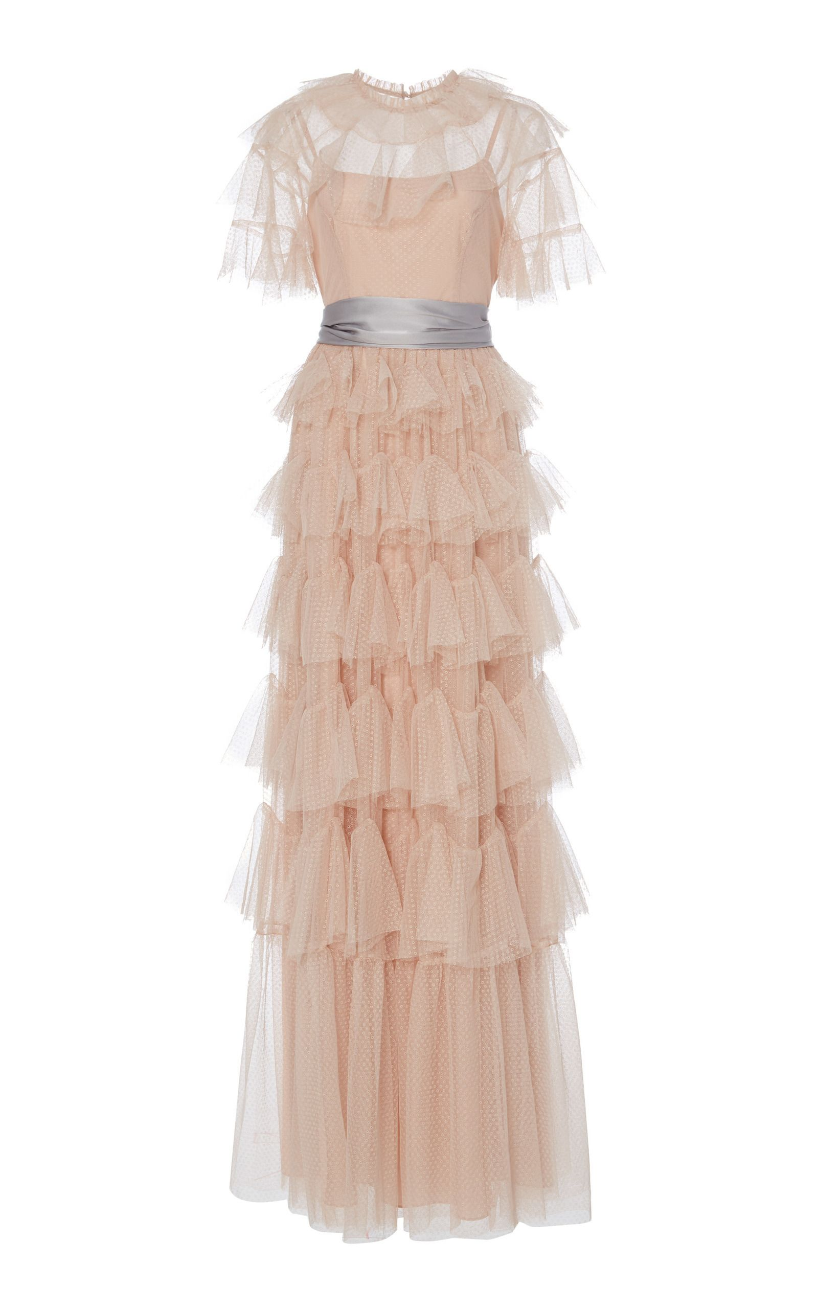 4ae319e2f Shop NEEDLE & THREAD SCALLOP TULLE RUFFLE GOWN, WHITE, starting at $645.  Similar ones also available. On SALE now!