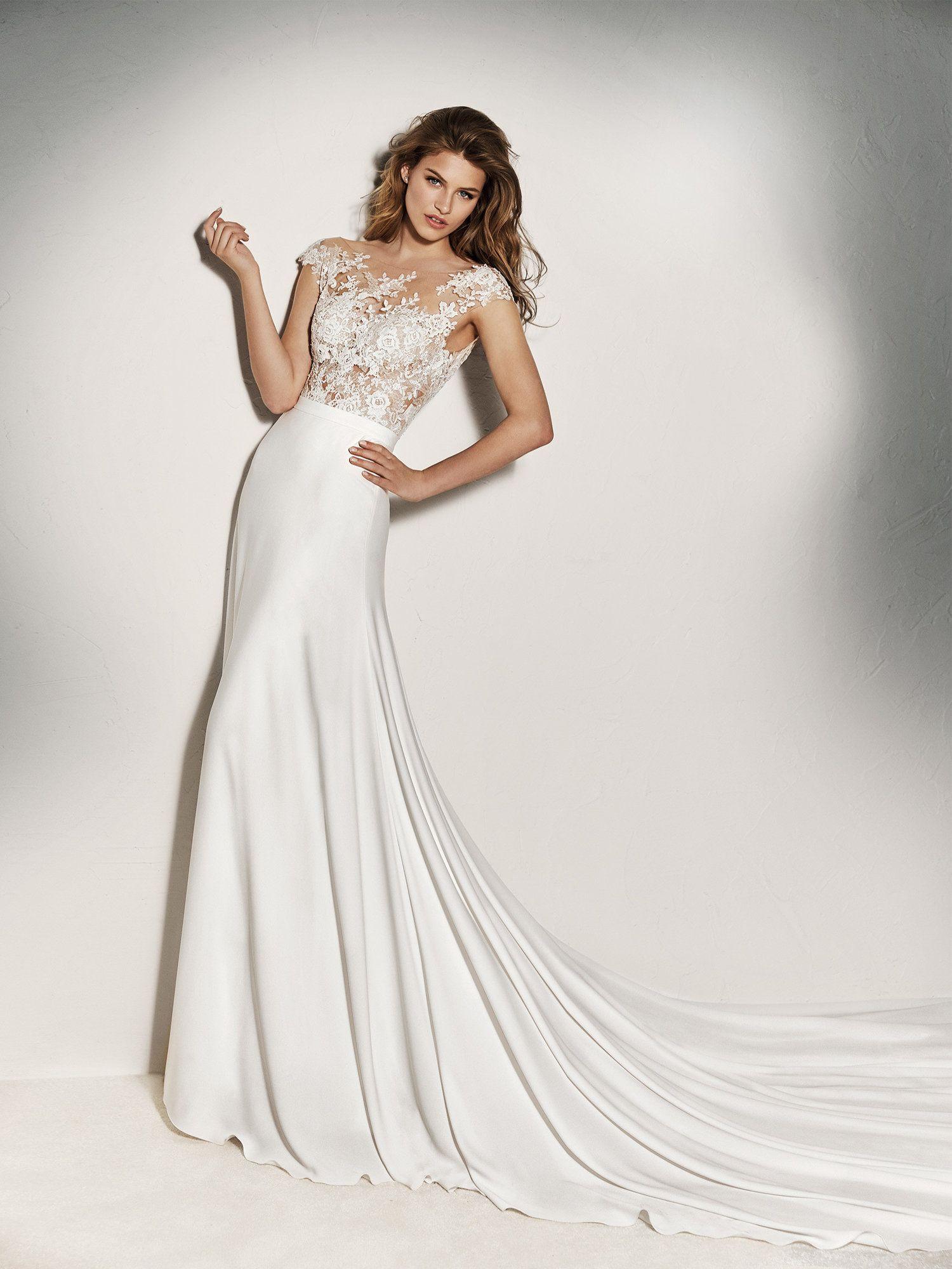 e7752a6d4067 PRONOVIAS ~ XENINE BODYSUIT | someday in 2019 | Top wedding dresses ...