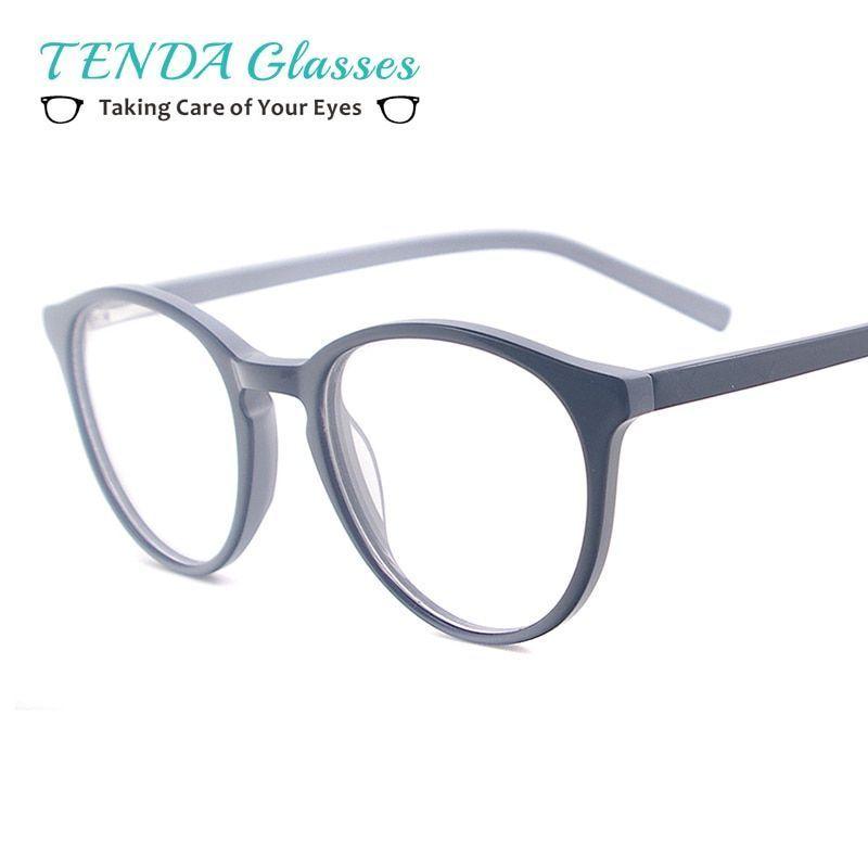 6403f3aca6 Women fashion small round glasses frame acetate vintage eyewear with spring  hinge for myopia reading prescription lens  eyewear  accessories  frames   women ...