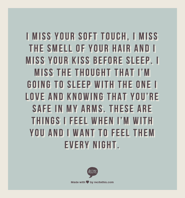 I miss your love quotes