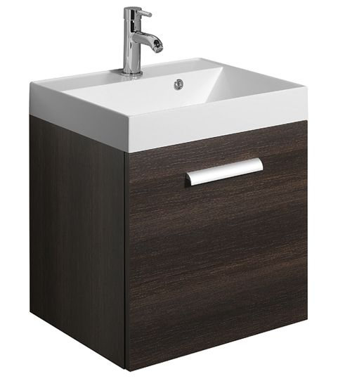 Bauhaus Design Wall Hung Single Door Basin Unit 500m