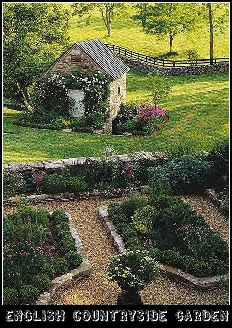 Beautiful country garden in england content in a cottage garden ideas pinterest gardens - Countryside dream gardens ...