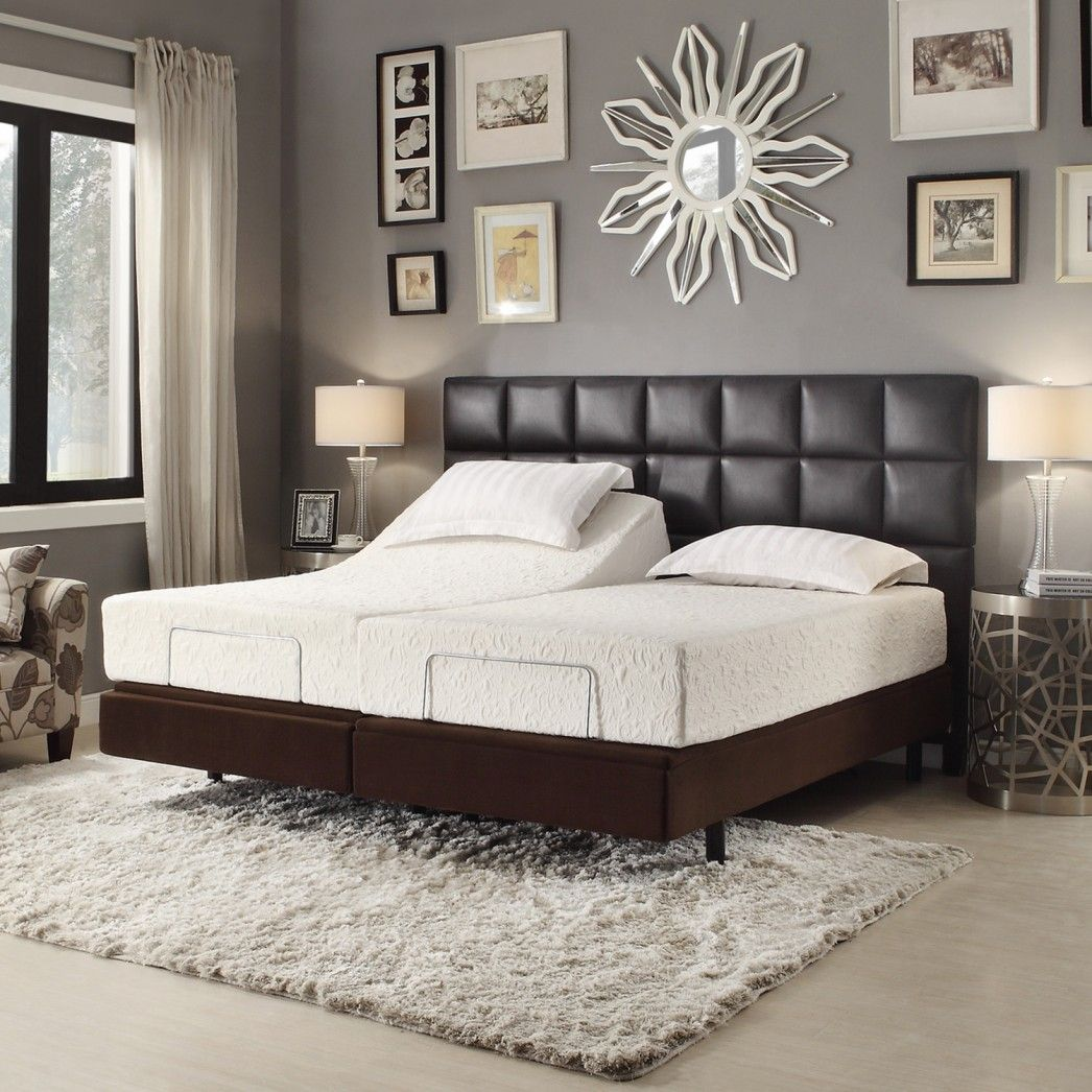 Bedroom wall decorating ideas picture frames - Bedroom Engaging Ideas For Bedroom Decoration Ideas Using Dark Brown Wood Adjustable Electric Bed Frames Along