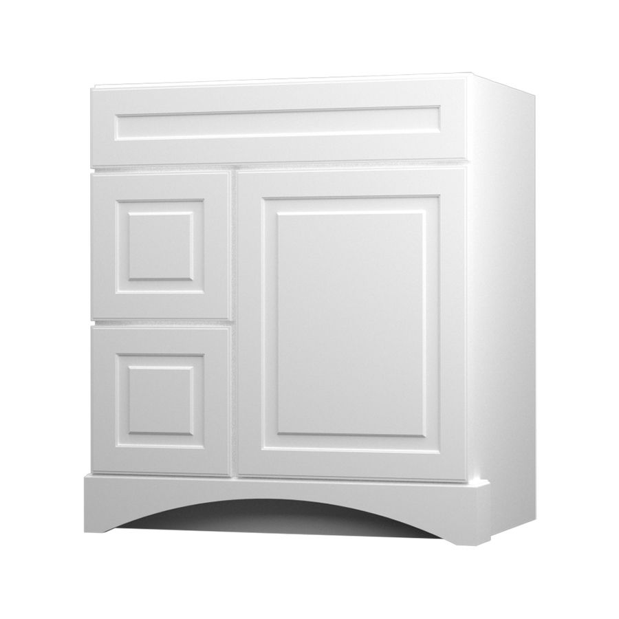 Best Kraftmaid White 30 In Casual Bathroom Vanity Bathroom 640 x 480