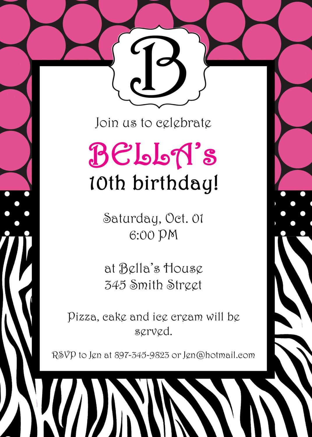animal print invitation ideas Google Search (With images