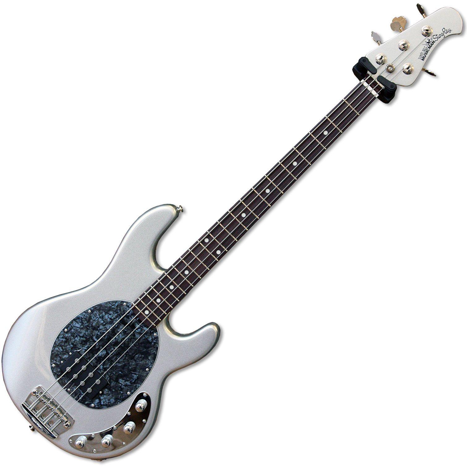 Musicman Stingray 3eq Bass Guitar Sterling Silver At Music Village Education Bass Guitar Guitar Bass
