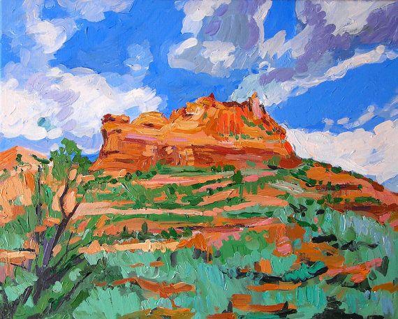 Southwestern Blue Sky Sedona Fine Art Print  8x10 by GwenMeyerson, $20.00