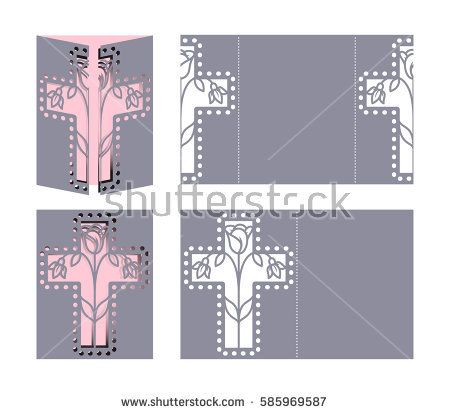 Laser cut template for Easter greeting cards, invitations Easter - easter greeting card template