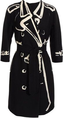 ShopStyle: Moschino Belted coat with white paint