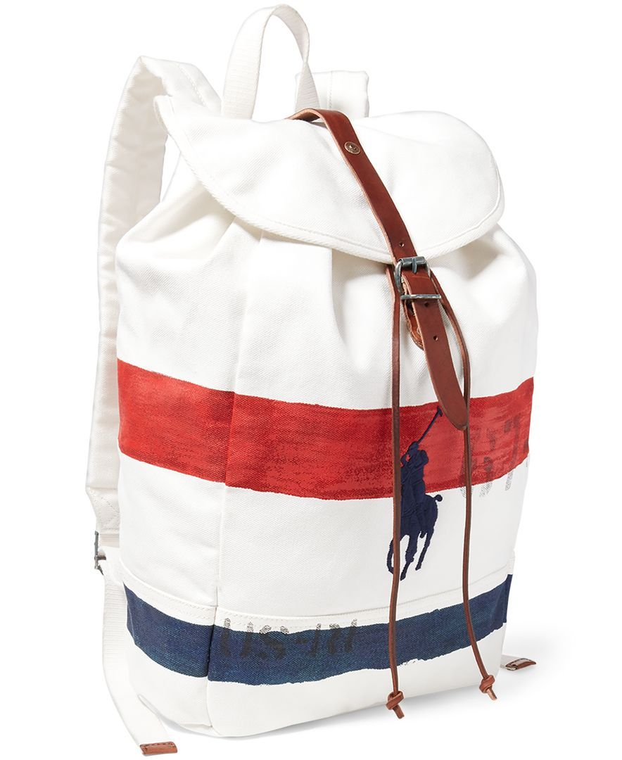 Polo Ralph Lauren Men s Striped Canvas Backpack  f7212128b108b