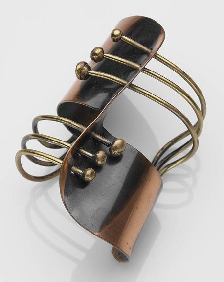 Cuff bracelet of copper and brass by Art Smith, c. 1948