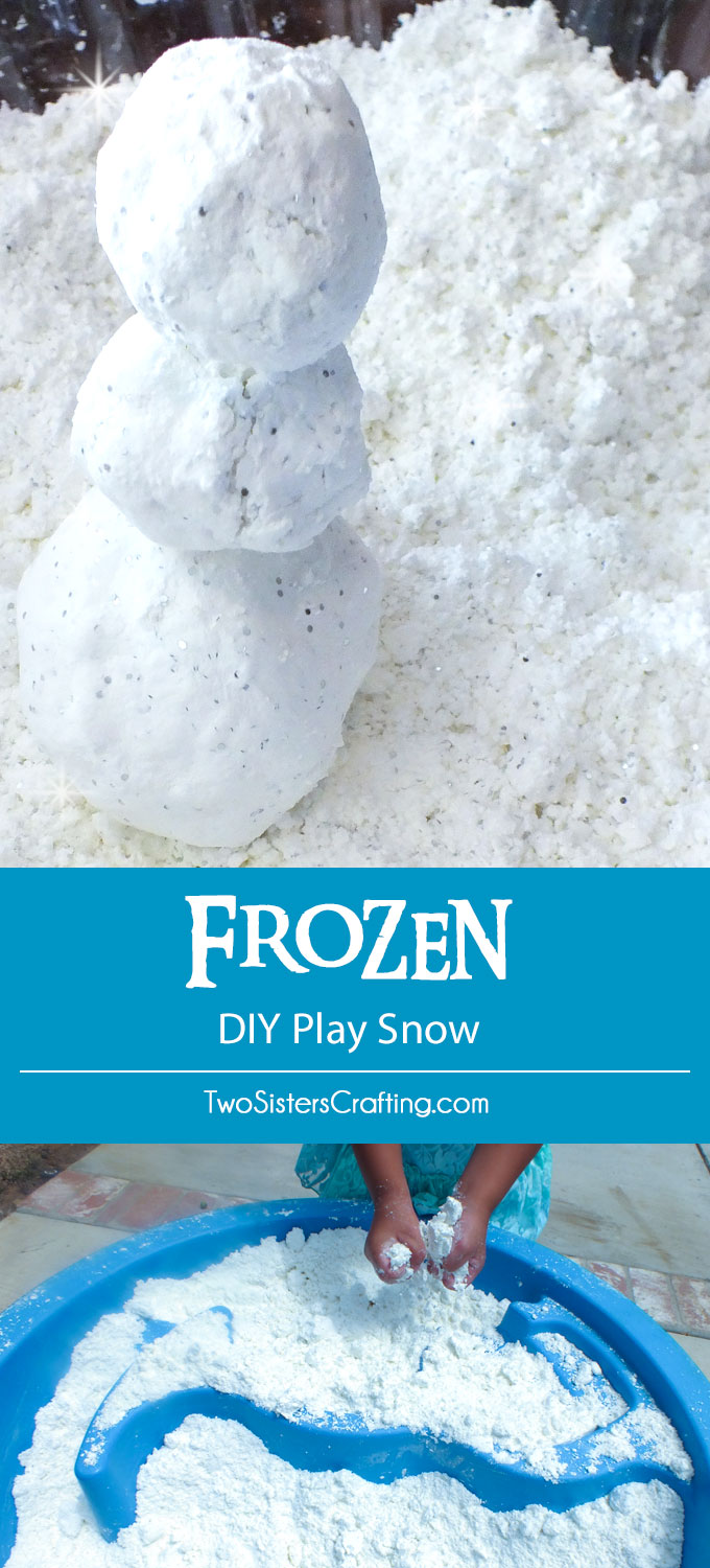 Frozen DIY Play Snow - Two Sisters