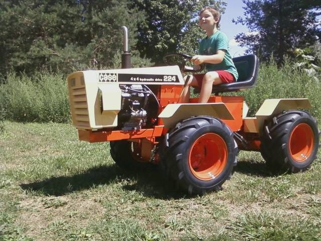 Mini Antique Tractors : Articulated case finally mower in