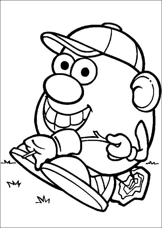 Fin fun coloring pages ~ 57 coloring pages of Mr. Potato Head on Kids-n-Fun.co.uk ...