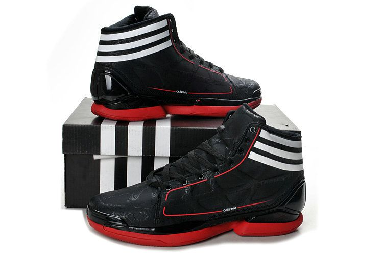 cee56b2c13d Derrick rose 98 shoes sale Crazy Light Black Leather Sport Red White G22389  Mens   63.00