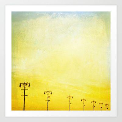 Coney Island Boardwalk Art Print by Minagraphy - $20.80