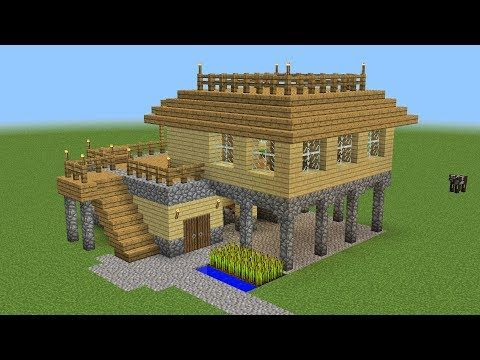 Minecraft starter house tutorial how to build  in easy youtube also rh pinterest