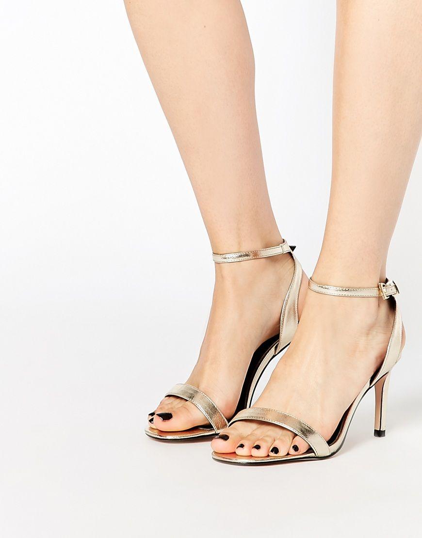 Heels, Metallic sandals