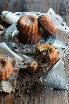 minis bundt cakes amandes et pépites de chocolat