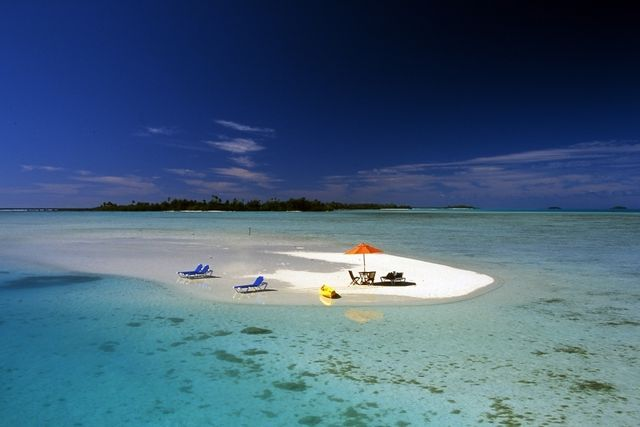 Best Beach for a Romantic Get-Away Wedding web site The Knot picks the Cook Islands as a top honeymoon destination. It does seem perfect for a couple that wants to get as far away as possible from the stress of wedding-planning. The South Pacific nation's capital of Rarotonga is a 34-hour journey from New York and a four-hour flight from New Zealand, so you may want to ask for an upgrade -- as a wedding present, of course.