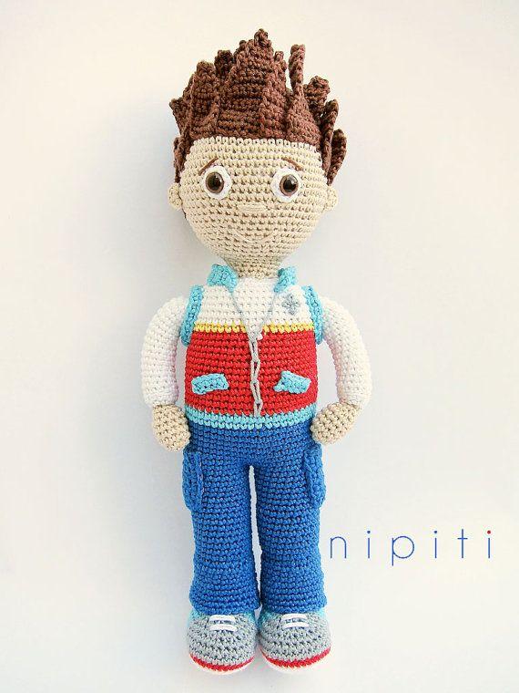 Paw Patrol Toy - Ryder Amigurumi Crochet pattern   patrulla canina ...