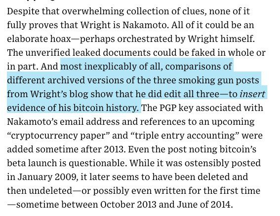 Solid discussion of evidence suggesting Craig Wright isn't Satoshi Nakamoto.
