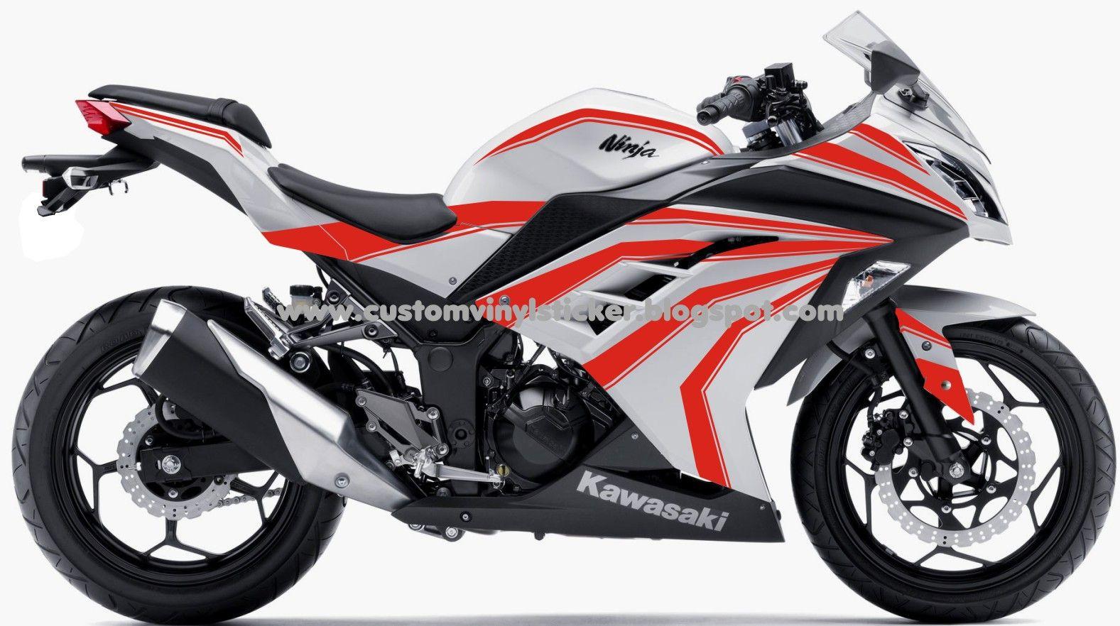 Kawasaki Ninja 300f1 White Red Red Striping