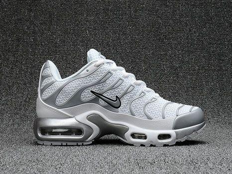 new arrival 229da a3944 Men Nike Air Max Plus Tn Ultra White Grey Shoe