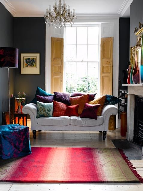 Decorate Your Interiors With Jewel Tone Colors Living Room Designs Family Living Rooms Living Room Design Modern