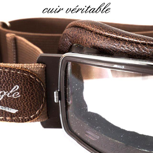 8888a15c4db Lunettes Aviator Goggle T2 Chrome Marron Vieilli