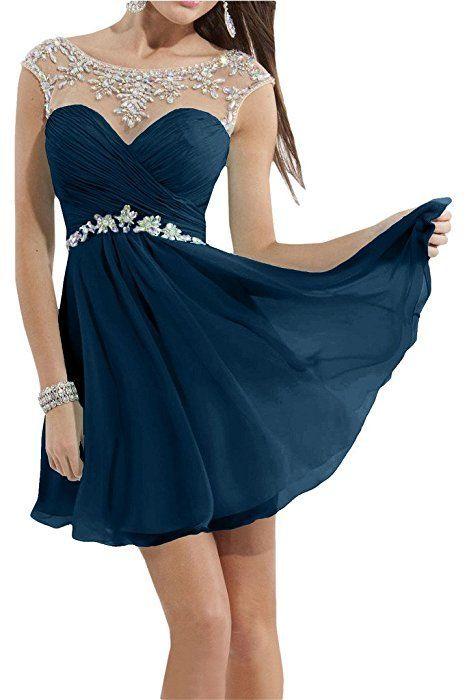 Kurz Spitze Brautjungfernkleid Damen Kleider Cocktailkleid Abendkleid Partykleid