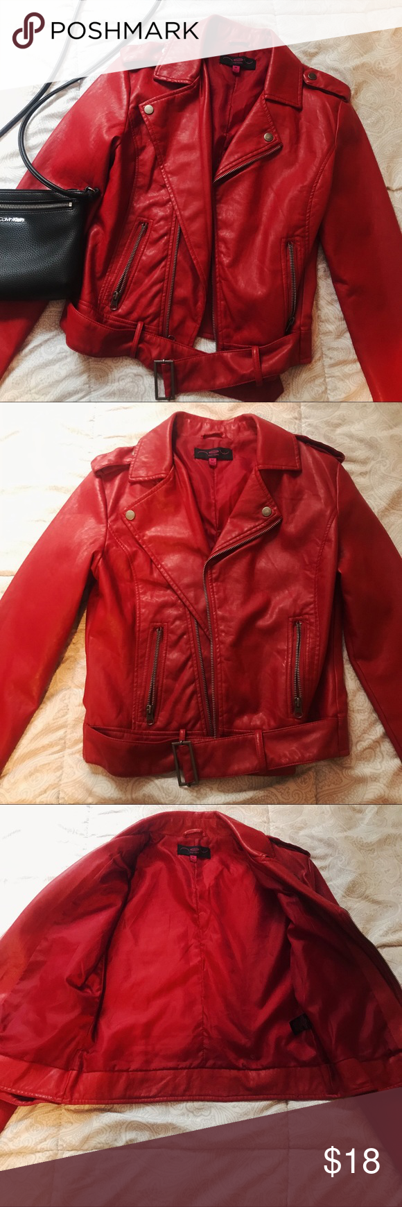 Red Faux Leather Jacket Leather Jacket New Look Jackets Faux Leather Jackets [ 1740 x 580 Pixel ]