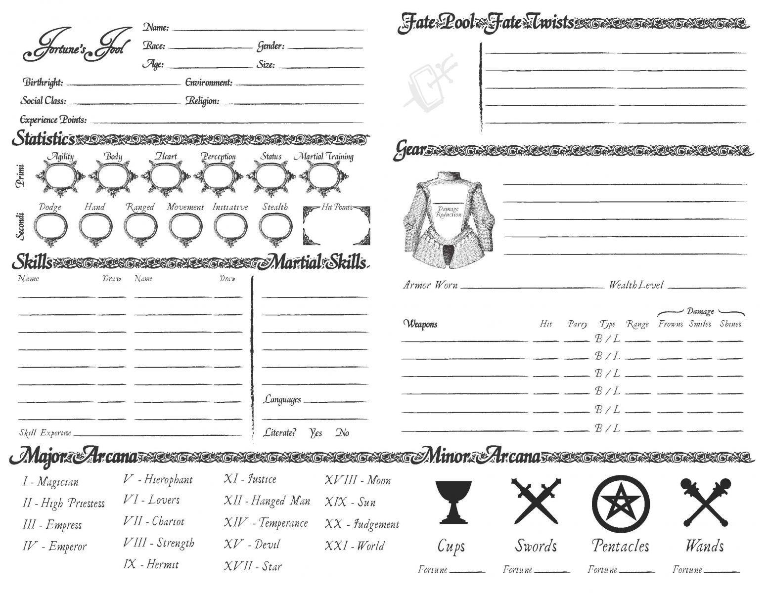 Character character sheet tabletop rpg rpg