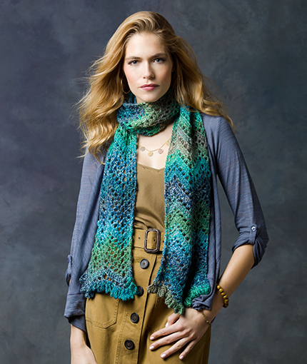 Shore Thing Scarf Free Crochet Pattern LW2773
