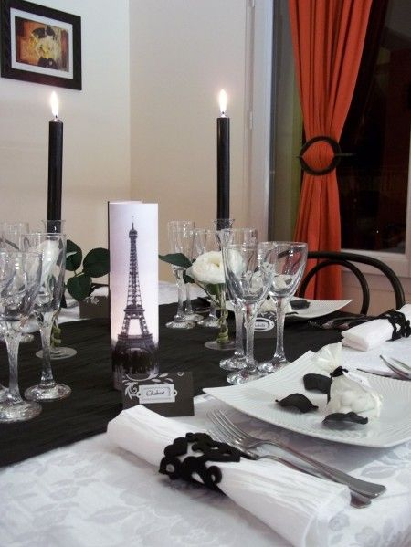 décoration de table thème Paris 16 | Déco Party Paris | Pinterest ...