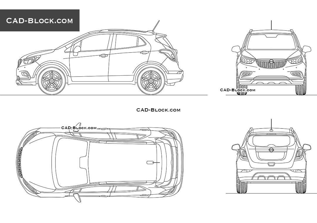 Opel Mokka X CAD drawings