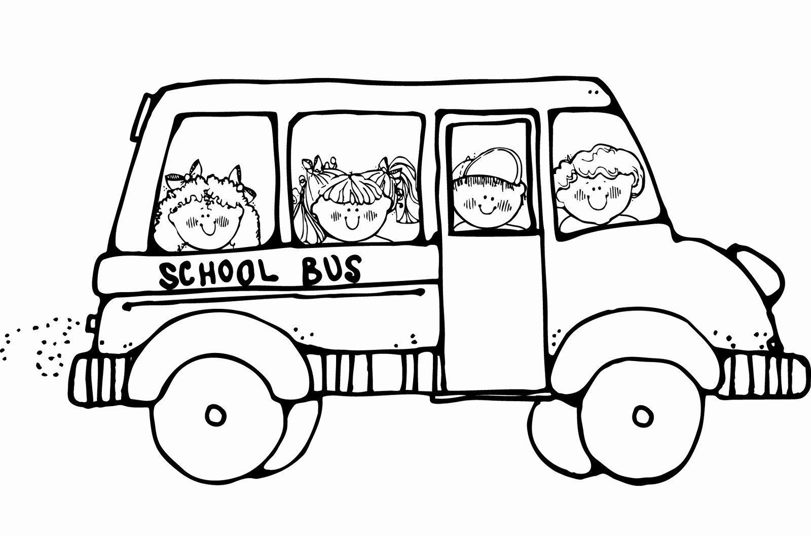 School Bus Coloring Page Beautiful Free Printable School