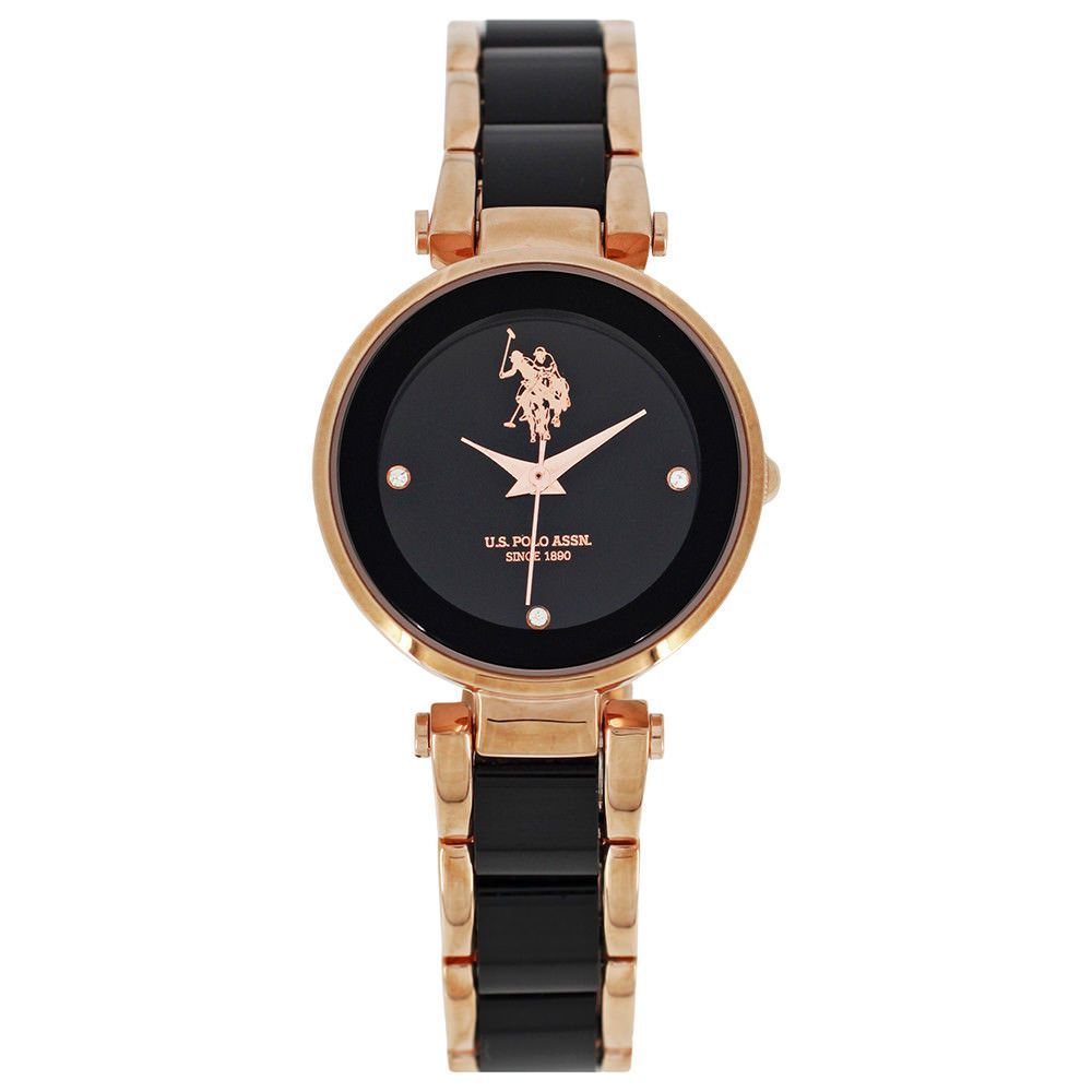 64e94047943 U.S. POLO ASSN Watch Women Sophie USP5553BK WK Steel ip Rose gold quartz  time Seiko Watches