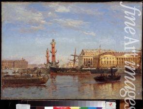 "Beggrov Alexander Karlovich - ""View of St. Petersburg from the Neva"", 1899"