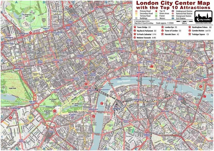 London Map Attractions Pdf.London City Center Map Pdf A London Experience London Map
