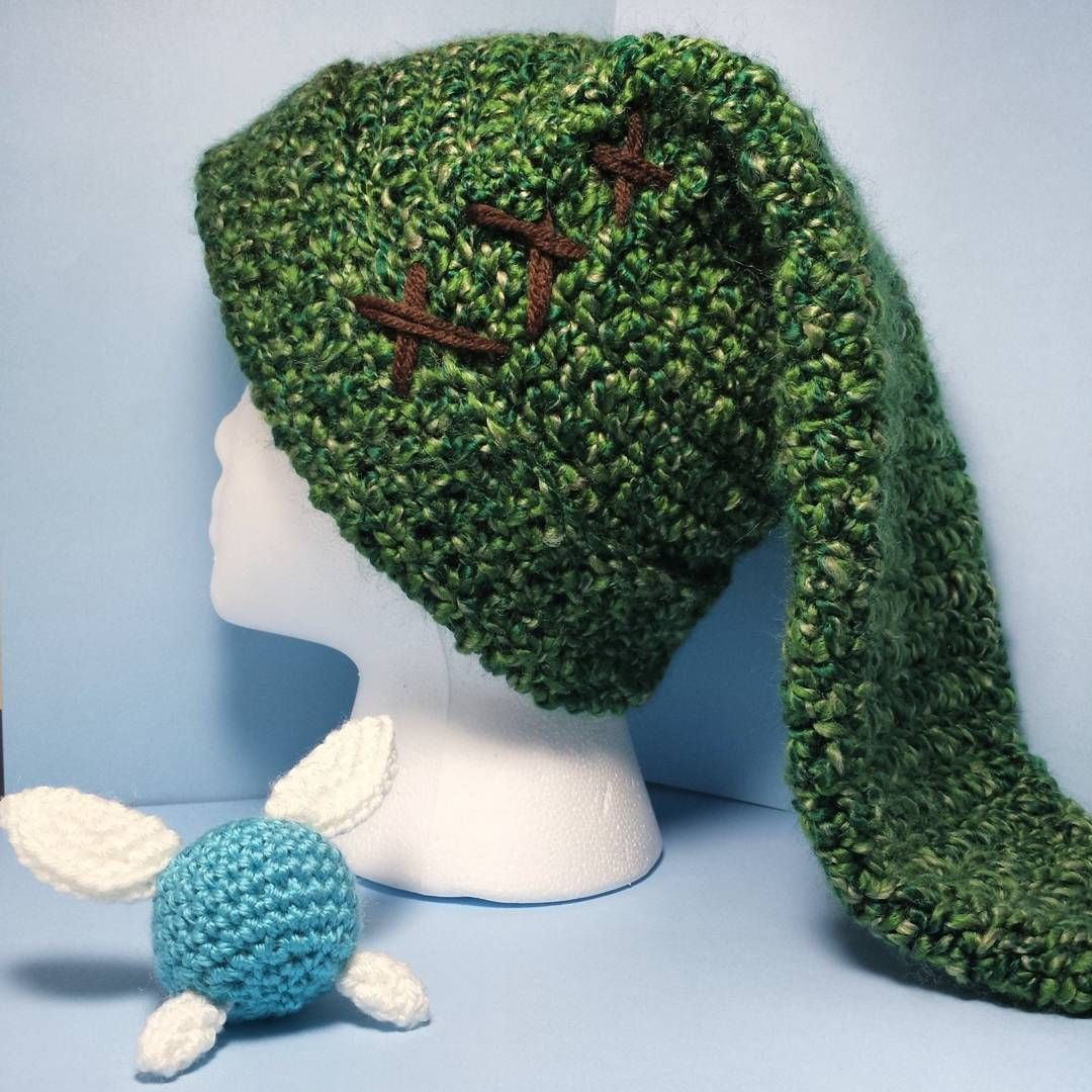 I made myself a new Link hat! Pattern by amiguru.tumblr.com #crochet ...