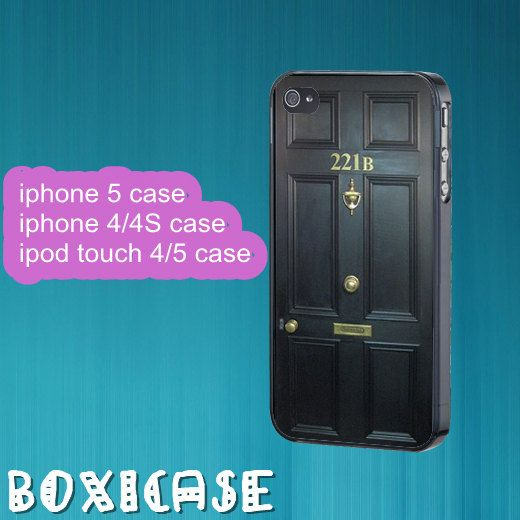 Sherlockiphone 4 caseiphone 5 caseipod touch 4 by Boxicase on Etsy
