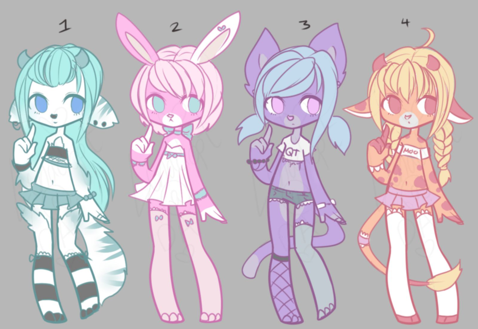 Adopt Auction: Cutie Furs CLOSED by Lunadopt on @DeviantArt