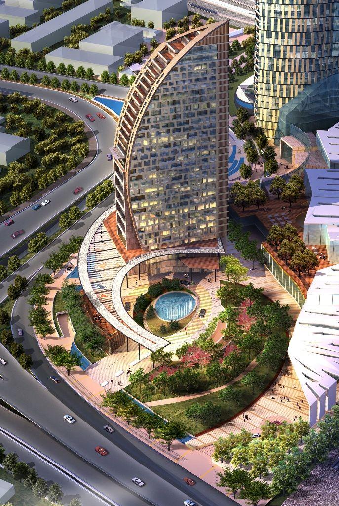 Baku Trump Tower 130m 33 Fl T O Concept Architecture Futuristic Architecture Architecture Design Concept