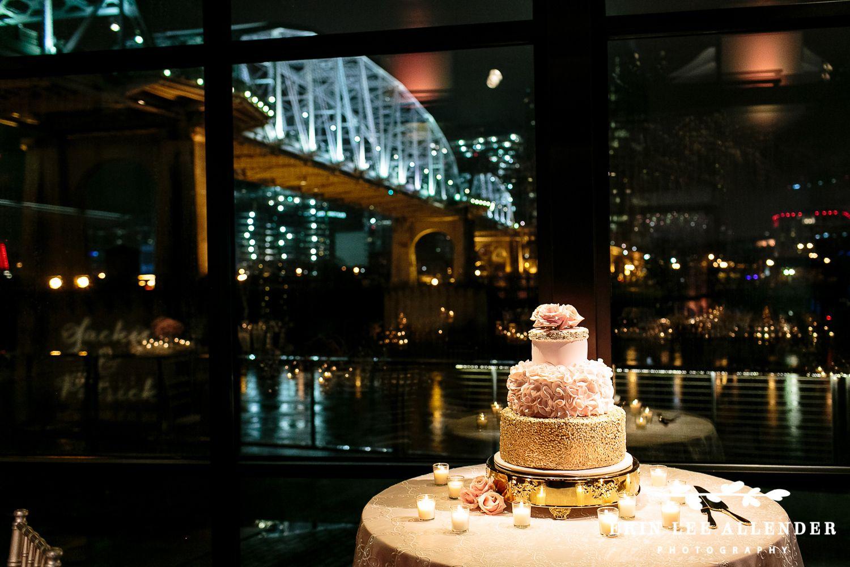 Sneak Peek Rooftop Rose Gold New Years Eve Wedding